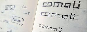 Scribbles Logoentwürfe für Comali